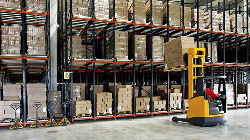 Cleaning Supplies in a warehouse
